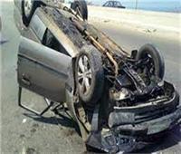 إصابة ٤ أشخاص من أسرة واحدة إثر إنقلاب سيارة ملاكي بالبحيرة