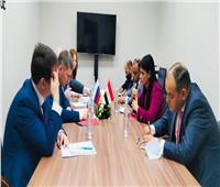 «المشاط» تبحث تعزيز مجالات التعاون الثنائي مع وزير التنمية الاقتصادية الروسي.. صور وفيديو
