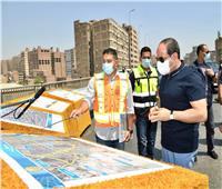 الرئيس يتفقد أعمال تطوير الطريق الدائري حول القاهرة الكبرى |صور