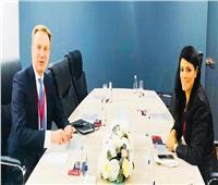 وزيرة التعاون الدولي تلتقي رئيس المنتدى الاقتصادي العالمي لبحث التعاون المشترك