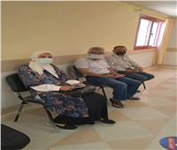 تزايد الإقبال علي مركز التطعيم للحصول علي لقاح كورونا في سيناء
