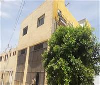 وضع اللمسات الأخيرة لمبنى الحماية المدنية تجهيزا لافتتاحه بـ«طوخ المنيا»