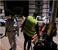حملة ليلية لإزالة الإشغالات بـ«دمياط الجديدة»