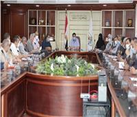 نائب محافظ بني سويف يعقد اجتماعاً لحصر أراضي ومنشآت الدولة