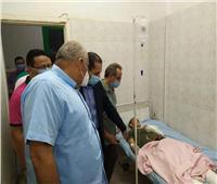 محافظ الوادي الجديد يطمئن على حالة مصابي حادث أتوبيس الداخلة