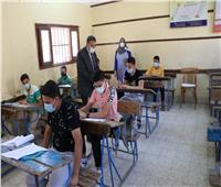 تباين ردود أفعال طلاب الشهادة الإعدادية بالغربية حول إمتحان الهندسه