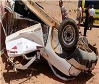 إصابة 4 أشخاص في حادث انقلاب سيارة بالمنيا
