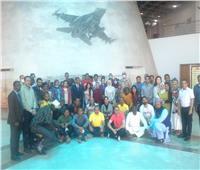 الشباب المشاركون فى منحة ناصرالدولية ينبهرون بمتحف القوات الجوية المصرية