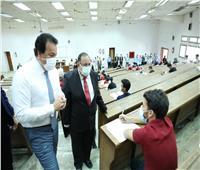 انتظام سير امتحانات جامعة حلوان بتطبيق الإجراءات الاحترازية