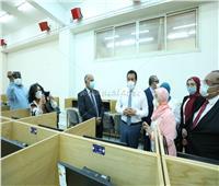 افتتاح مركز الاختبارات الإلكترونية للقطاع الطبي بجامعة حلوان