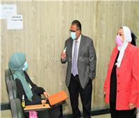 نائب رئيس جامعة عين شمس في جولة تفقدية لكلية التمريض