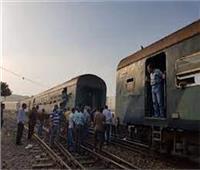 توقف حركة القطارات بسوهاج بعد سقوط عربة بمحطة المنشاة