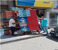 حملة اشغالات موسعة بالطالبية في الجيزة   صور