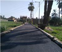 رصف طريق نجع الطينة لاستكمال محور السوفوتيل بالكرنك