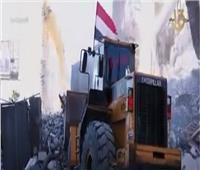 شاهد..الجهود المصرية لرفع آثار الدمار في قطاع غزة