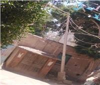 سقوط عمود كهرباء في الصف بالجيزة  صور