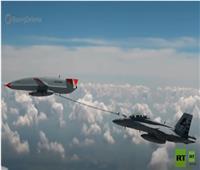 لأول مرة.. طائرة مسيرة تزود مقاتلة بالوقود جوّا   فيديو