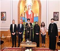 البابا تواضروس يستقبل سفير الأردن