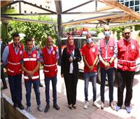 وزيرة التضامن تشهد إطلاق قافلة مساعدات طبية وغذائية للفلسطينيين