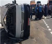 بالأسماء إصابة 12 شخصا في تصادم ميكروباص بدسوق