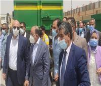 محافظ بني سويف ووزير التنمية المحلية يتفقدان المحطة الوسيطة لجمع القمامة