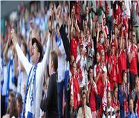 جماهير الدنمارك وفنلندا يهتفون: «إريكسن» بعد استقرار حالة اللاعب