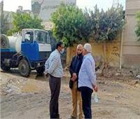 رئيس شركة مياه المنوفية يتابع ميدانيا مشكلات المواطنين بقرية طوخ دلكا