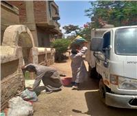 استمرار متابعة تنفيذ مشروعات مبادرة حياة كريمة بقرى أشمون
