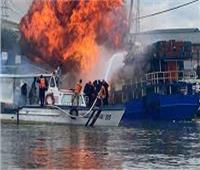 انفجار سفينة شحن في أحد موانئ الفلبين.. فيديو