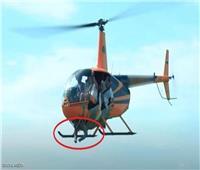 لتحقيق مشاهدات على «يوتيوب».. روسي يلصق شخص بمروحية ويطير به |فيديو
