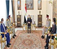 الرئيس السيسي يستقبلرئيس هيئة الأركان المشتركة للقوات المسلحة الباكستانية