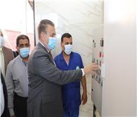 محافظ المنوفية يفتتح مشروع صرف صحي جزيرة الحجر بمركز الشهداء
