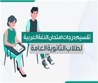 تقسيم درجات امتحان اللغة العربية لطلاب الثانوية العامة