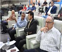وزير الرياضة يشهد مباراة المنتخب الأولمبي أمام جنوب أفريقيا
