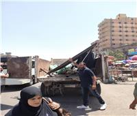 حملة إشغالات موسعة في شمال الجيزة| صور