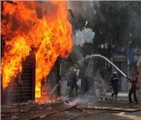 مصرع وإصابة ٨ عمال بحريق هائل في مصنع بالشرقية