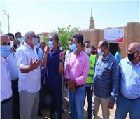 محافظ الوادي الجديد يعطى إشارة البدء في إعادة إعمار قريتي «جورمشين والجزائر»