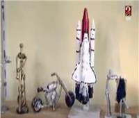 «مصطفى أمين».. شاب إسكندراني يحول الخردة إلى مجسمات| فيديو