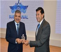 «رئيس قناة السويس» يستقبل وزيرالرياضة ووفد منحة ناصر للقيادة الدولية