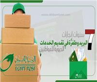 إنفوجراف| 7 سنوات إنجازات..«البريد» وطفرًة في تقديم الخدمات الحيوية للمواطنين