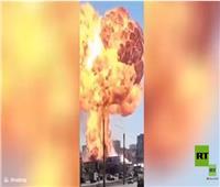مشهد مروع لانفجار بمحطة وقود في نوفوسيبيرسك الروسية| فيديو
