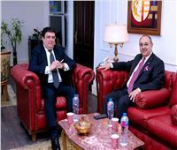 حسين زين يلتقي وزير الدولة لشئون الإعلام الأردني