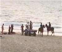سباق الخيول.. مصدر إزعاج على شواطىء العريش