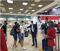 أولى رحلات فلاي دبي تصل مطار شرم الشيخ   صور