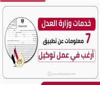 إنفوجراف |«خدمات وزارة العدل»: 7 معلومات عن تطبيق «أرغب في عمل توكيل»