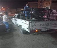 إزالة 95 مخالفة إشغال طريق ثابت ومتحرك خلال حملة ليلية بـ«كفر الدوار»