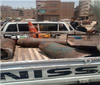 حملة لإزالة إشغالات الطريق ومتابعة الإجراءات الاحترازية بالمنيا