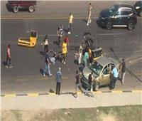 إصابة 4 أشخاص في تصادم سيارتين بمدخل مدينة القوصية