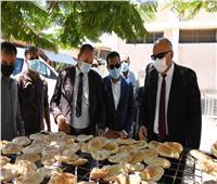 محافظ قنا يتفقد مخبز آلي بمدينة نجع حمادي
