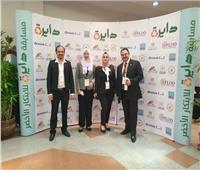 دارسة بجامعة حلوان تفوز بالمركز الأول في مجال تدوير مخلفات المصانع